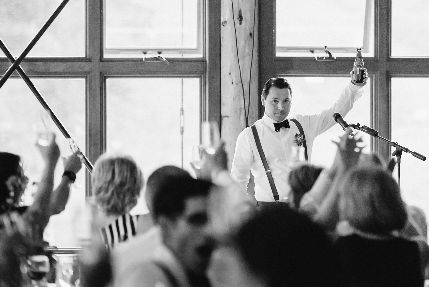 Red Pine Lodge best man giving a toast wedding photo