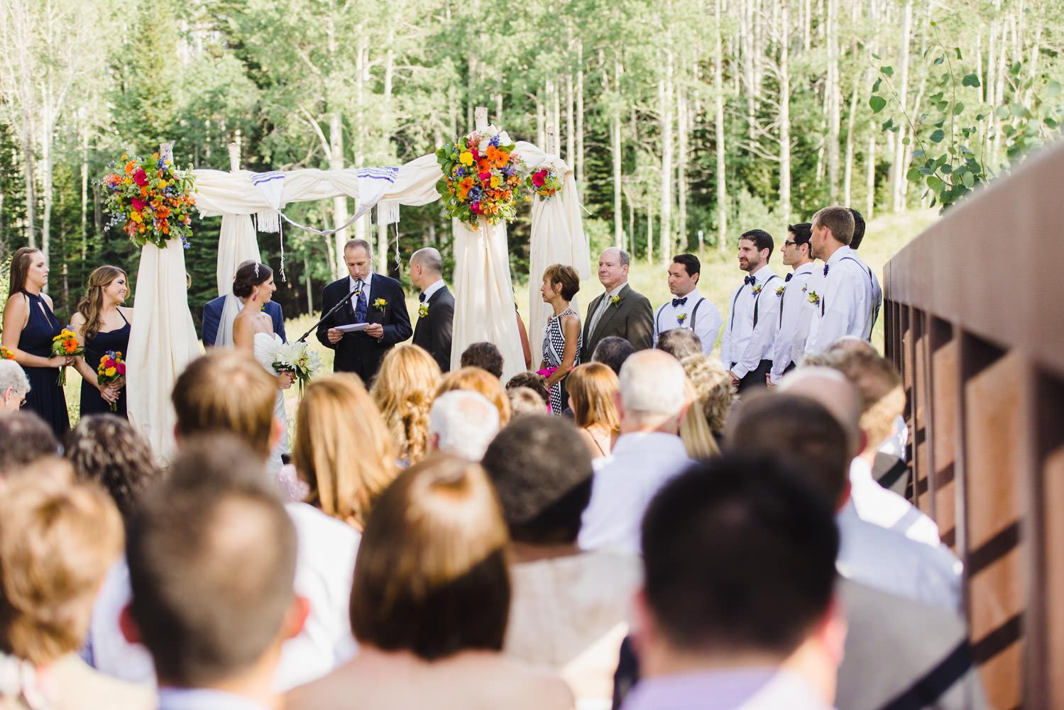 Red Pine Lodge ceremony wedding photo