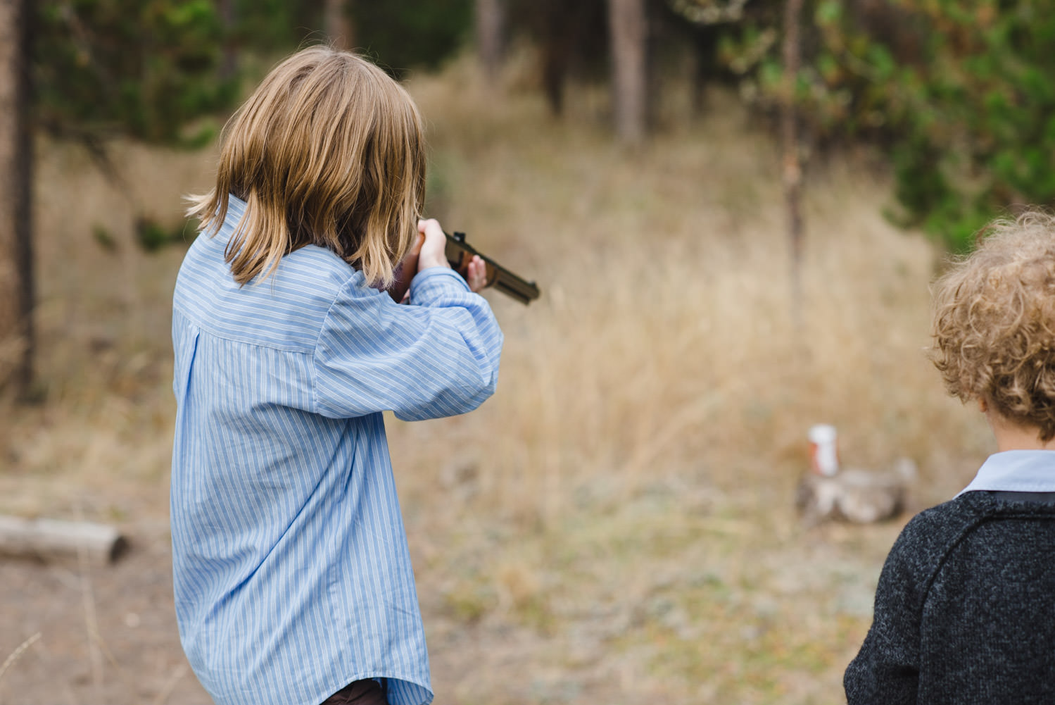 West Yellowstone Wedding shooting shotguns photo