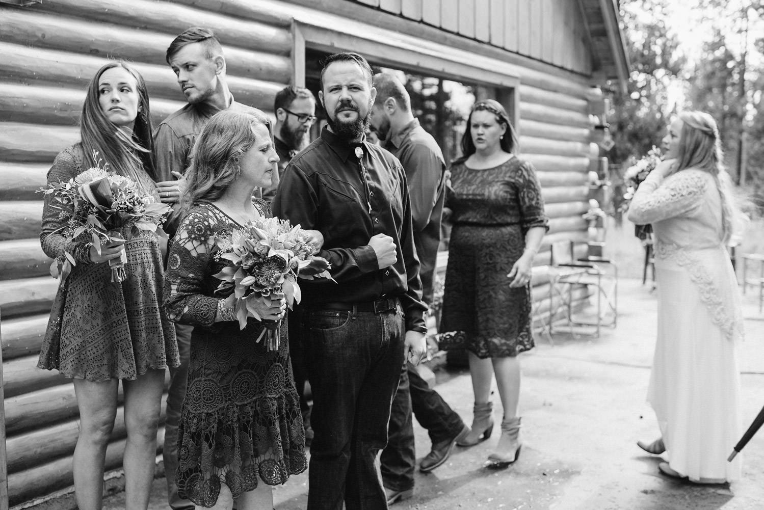 West Yellowstone Wedding the wedding party photo