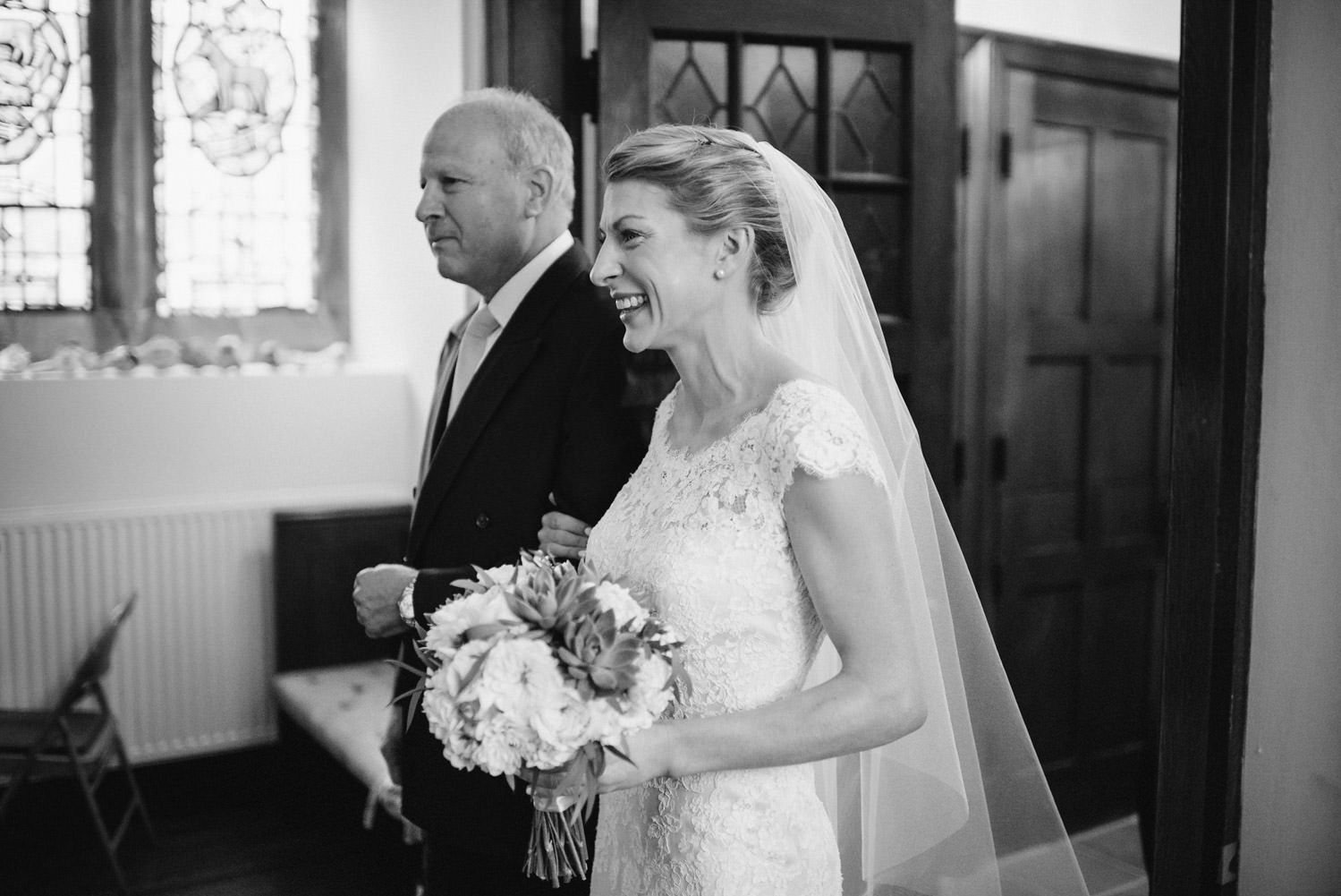 Woodstock Vermont Wedding father walking bride down the aisle photo