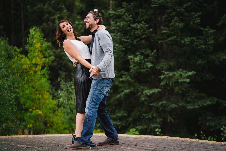 Millcreek Engagement couple dancing photo
