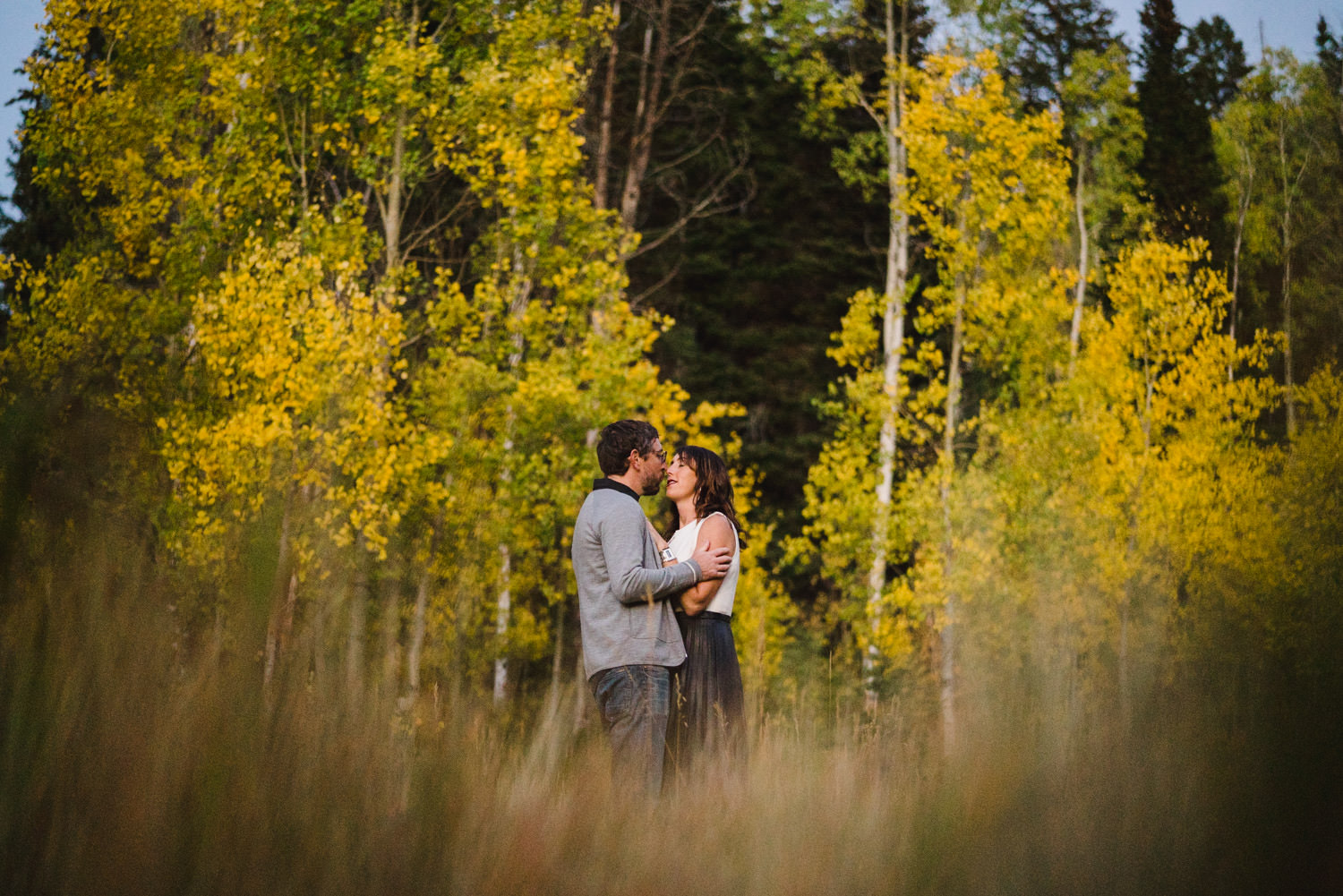 Millcreek Engagement couple in fall colors photo
