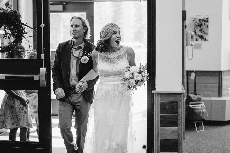 Alta Resort Wedding bride and groom entrance photo
