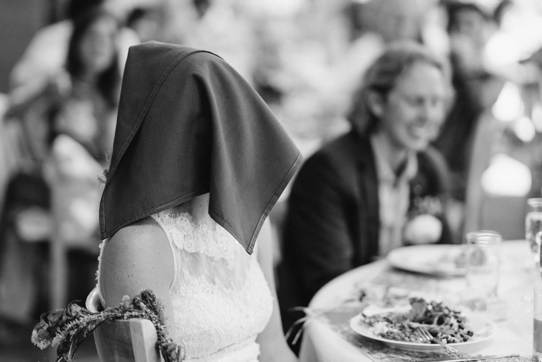 Alta Wedding bride during speeches photo