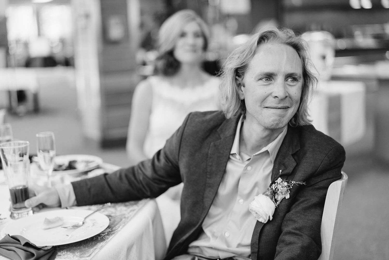 Alta Ski Resort Wedding groom getting emotional photo