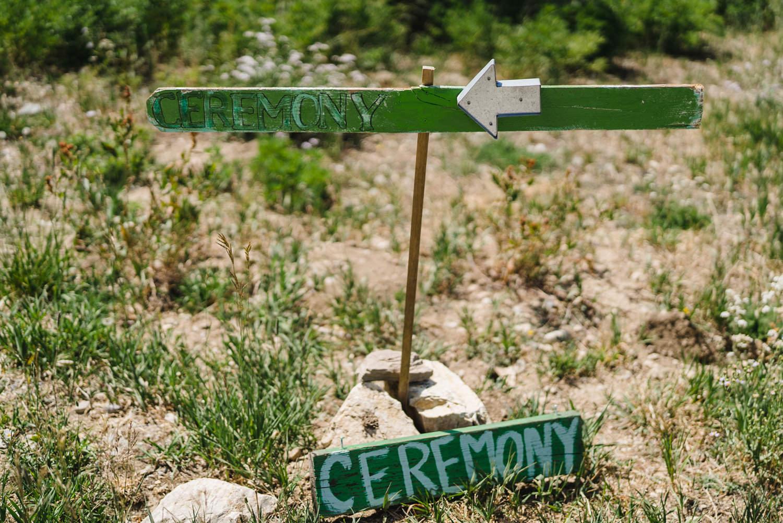 Alta Wedding ceremony sign photo