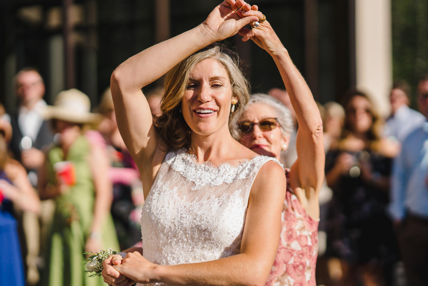Alta Wedding mother and bride dancing photo