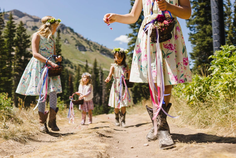 Alta Wedding flower girls photo