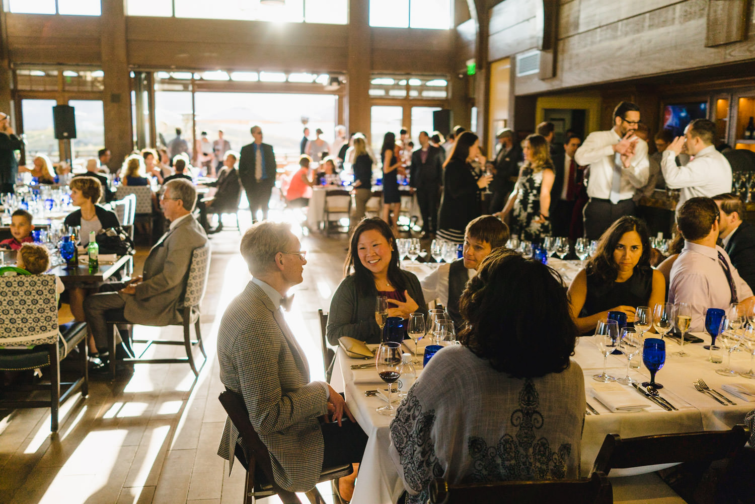 Tuhaye Golf Club Wedding in Park City guests at the reception photo