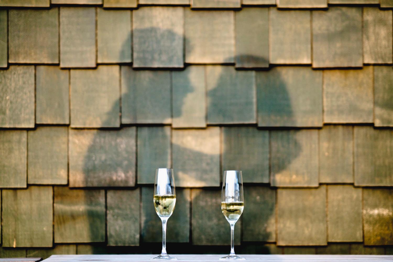 Tuhaye Golf Club Wedding bride and groom's shadow photo