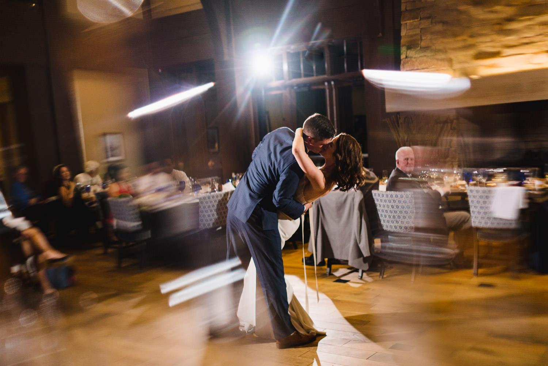 Tuhaye Golf Club Wedding groom dipping his bride photo