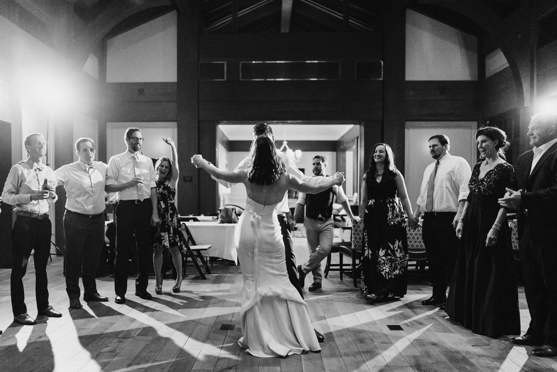 Tuhaye Golf Club Wedding bride dancing with groom photo