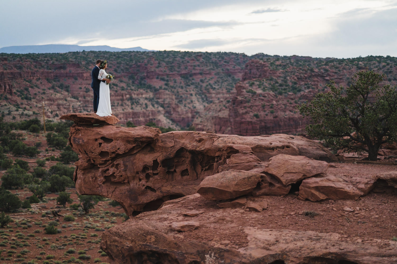 Capitol Reef Wedding newlyweds together photo