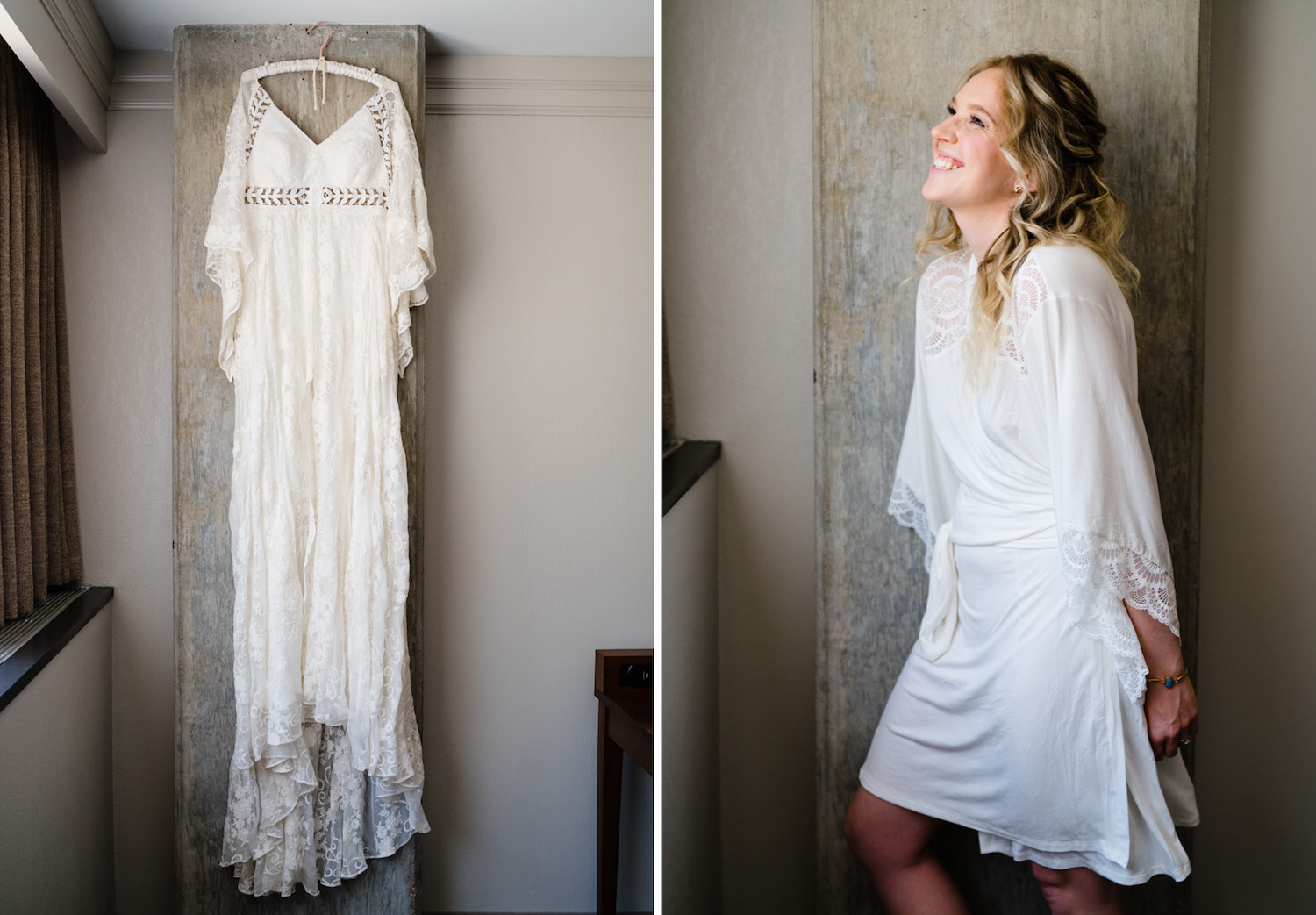 Wedding at Snowbird Cliff Lodge bridal gown and bride photo