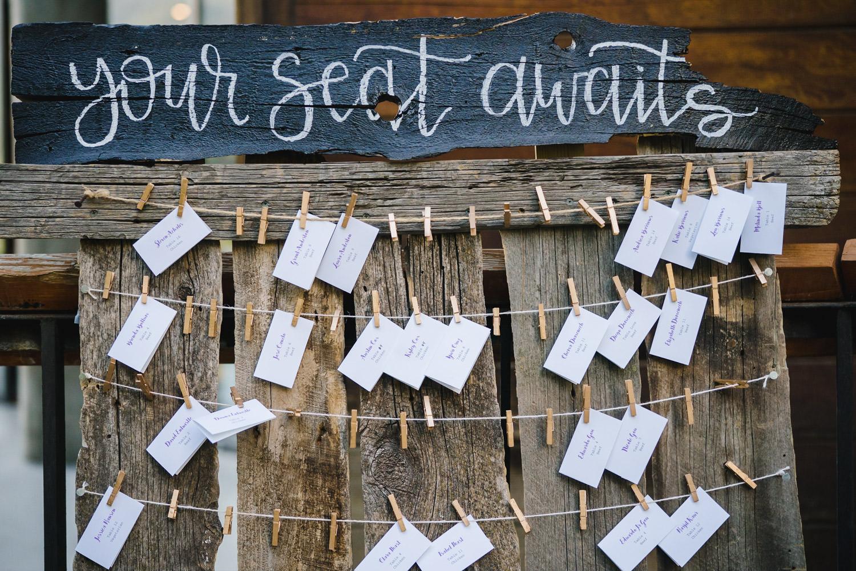 Wedding at Snowbird Cliff Lodge seating chart photo