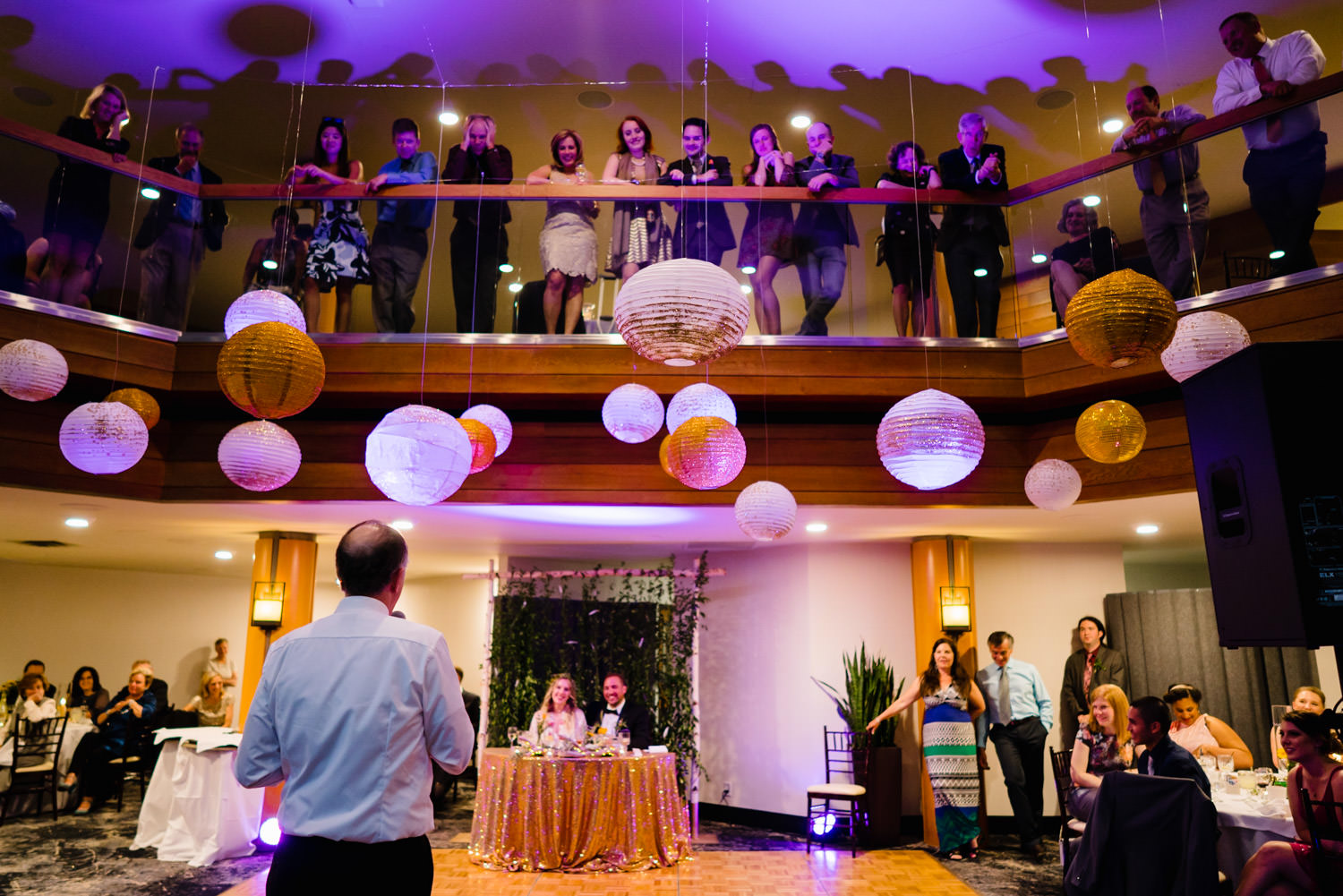 Wedding at Snowbird Cliff Lodge reception at the Golden Cliff photo