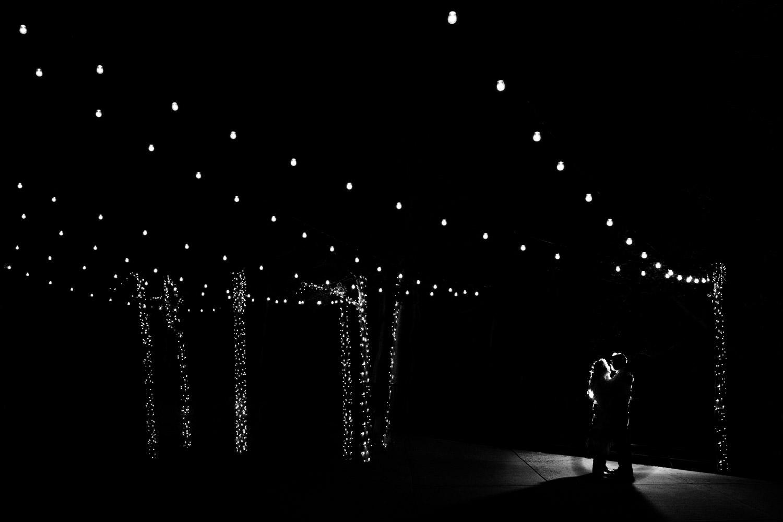 Wedding at Snowbird Cliff Lodge evening intimate hug photo