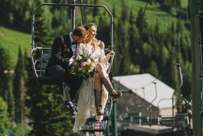 Wedding at Snowbird Cliff Lodge photo