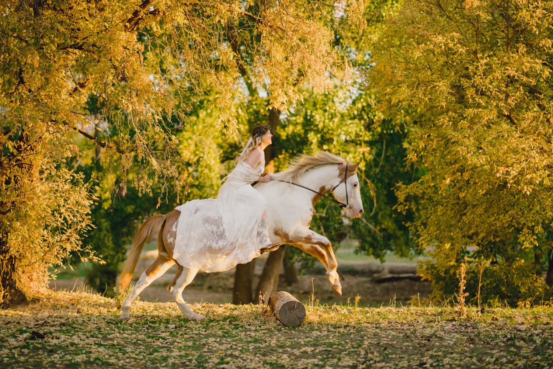 Equestrian bridal session photo