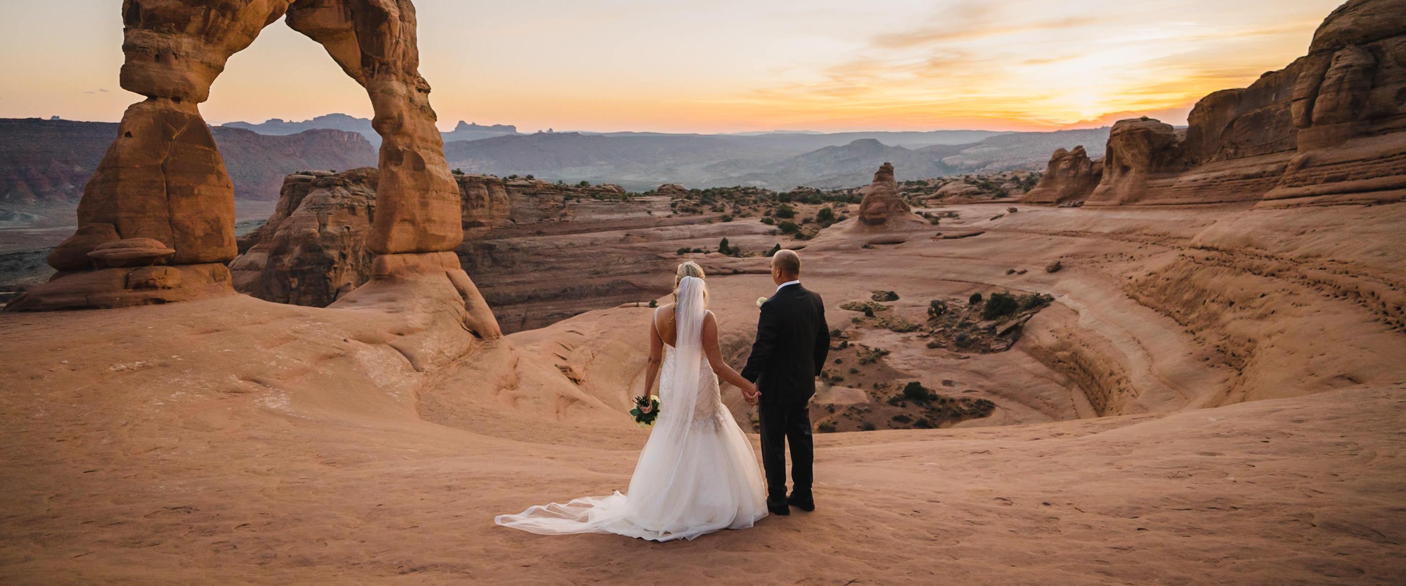 Delicate Arch elopement photo