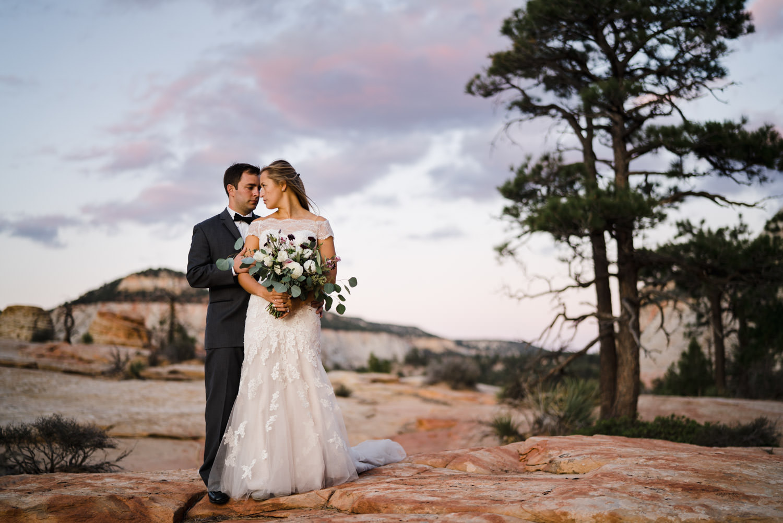 Zion National Park wedding photo