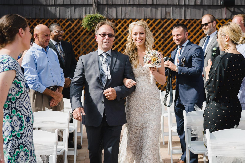 Alta Lodge wedding bride entering ceremony photo