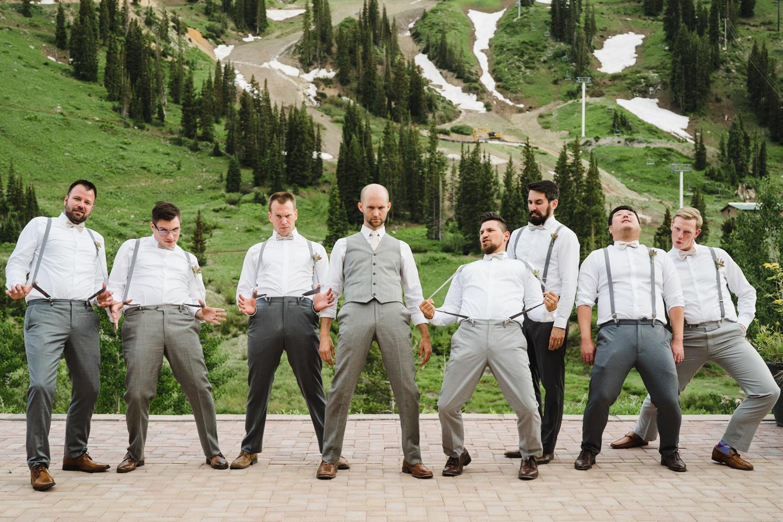 Alta Lodge wedding groom with groomsmen photo