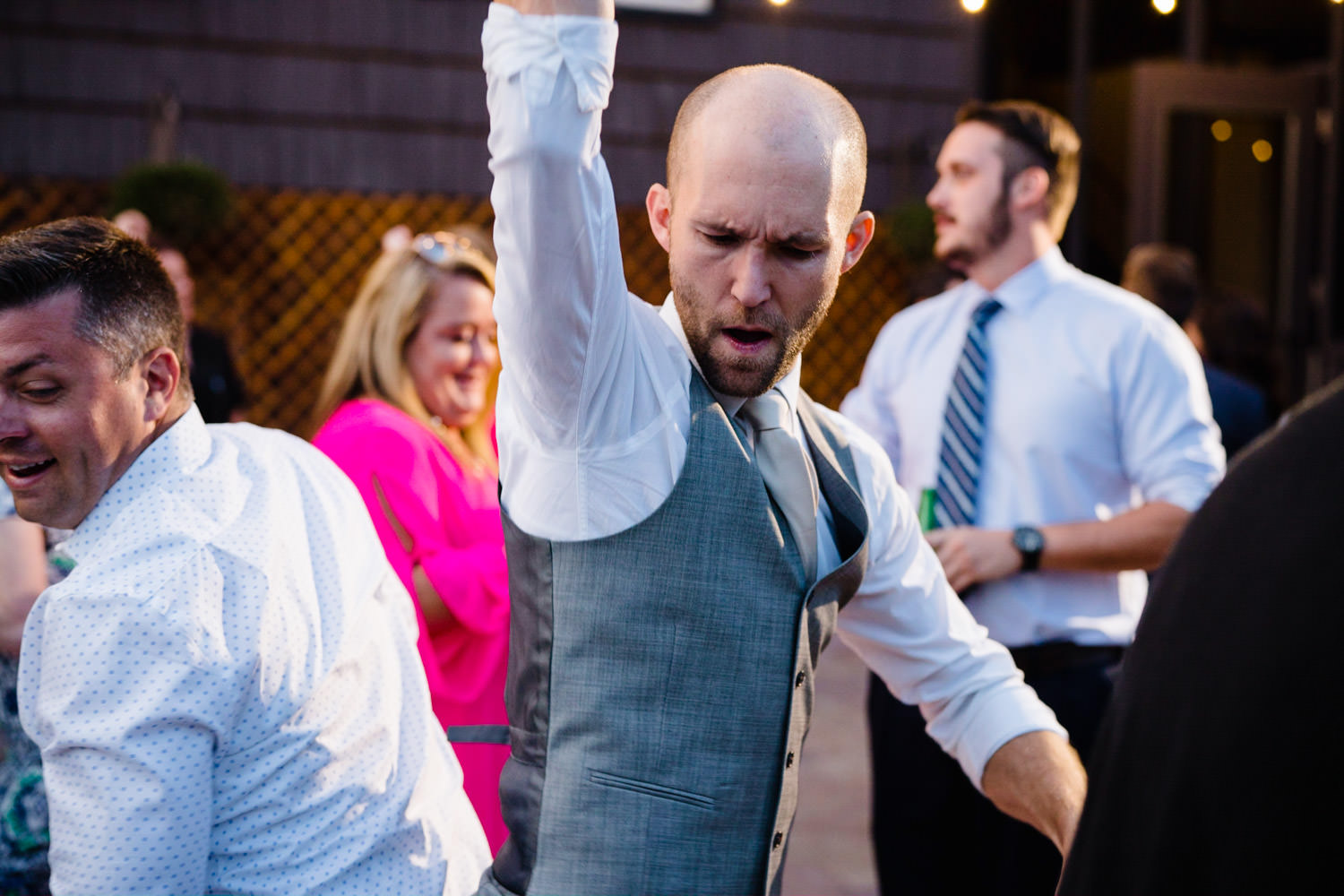 Alta Lodge wedding groom dancing with guest photo