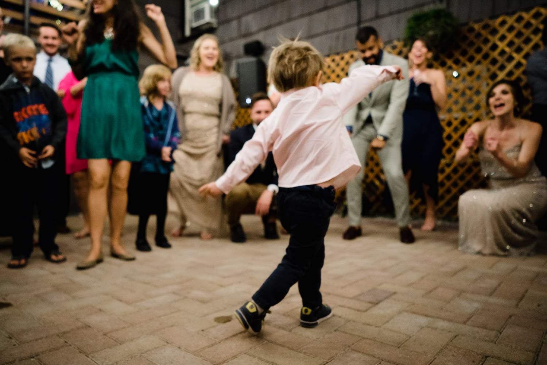 Alta Lodge wedding young boy on dance floor photo