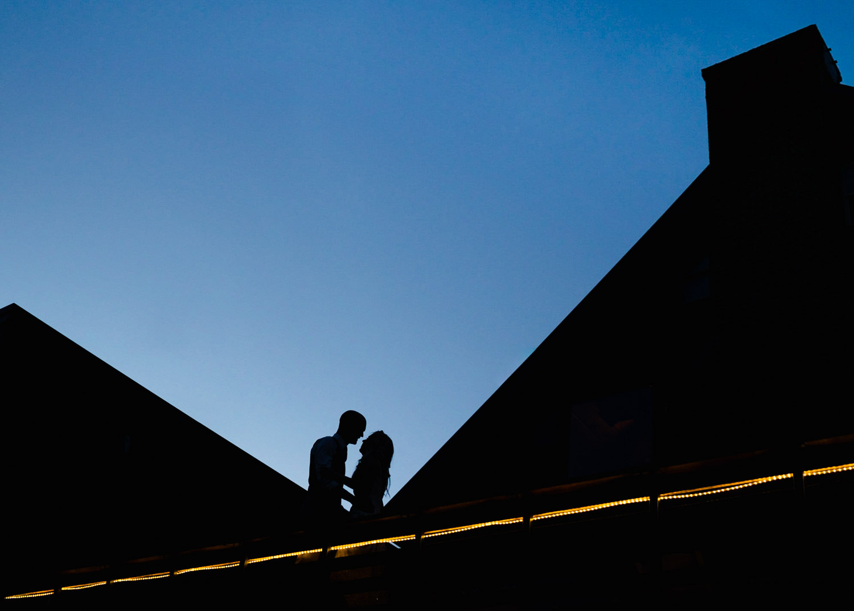 Alta Lodge wedding silhouette portrait photo
