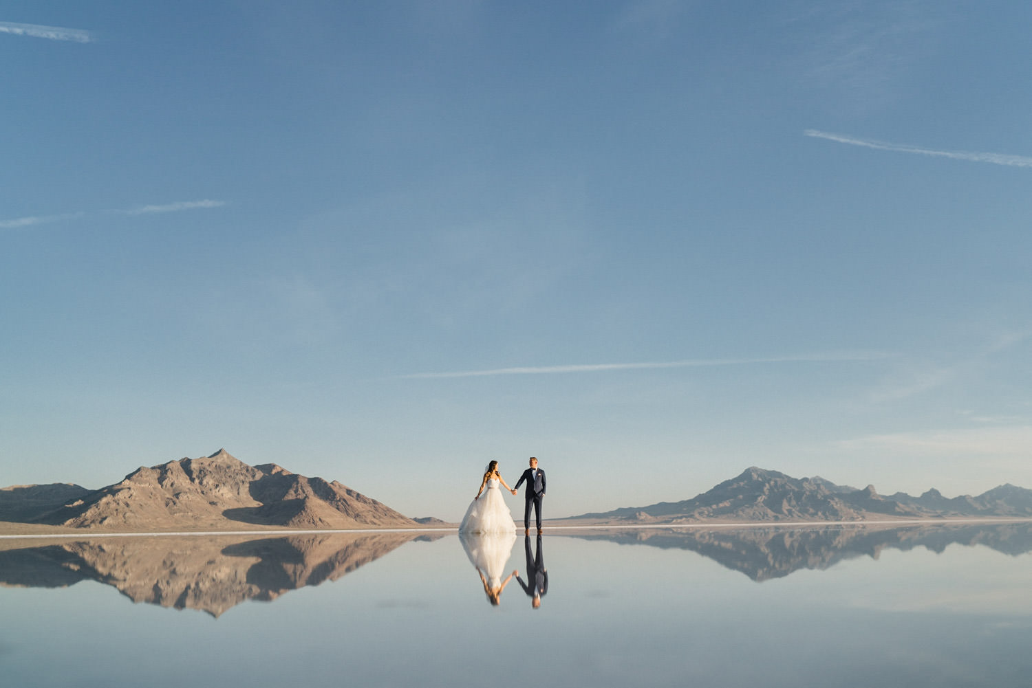 Bonneville Salt Flats wedding photo