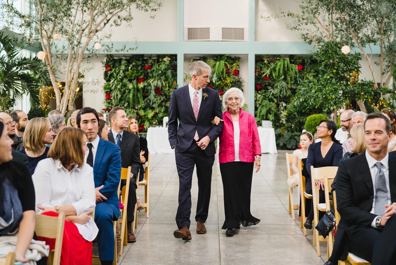 Red Butte Garden wedding ceremony entrance photo