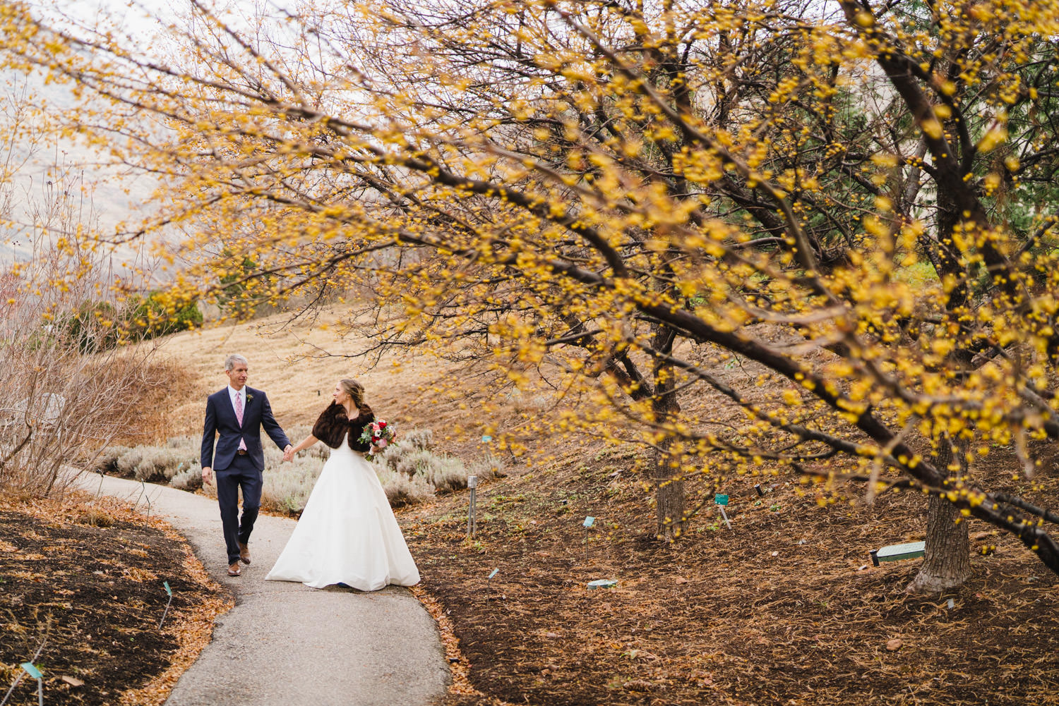 Red Butte Garden Wedding in Winter • Austen Diamond Photography