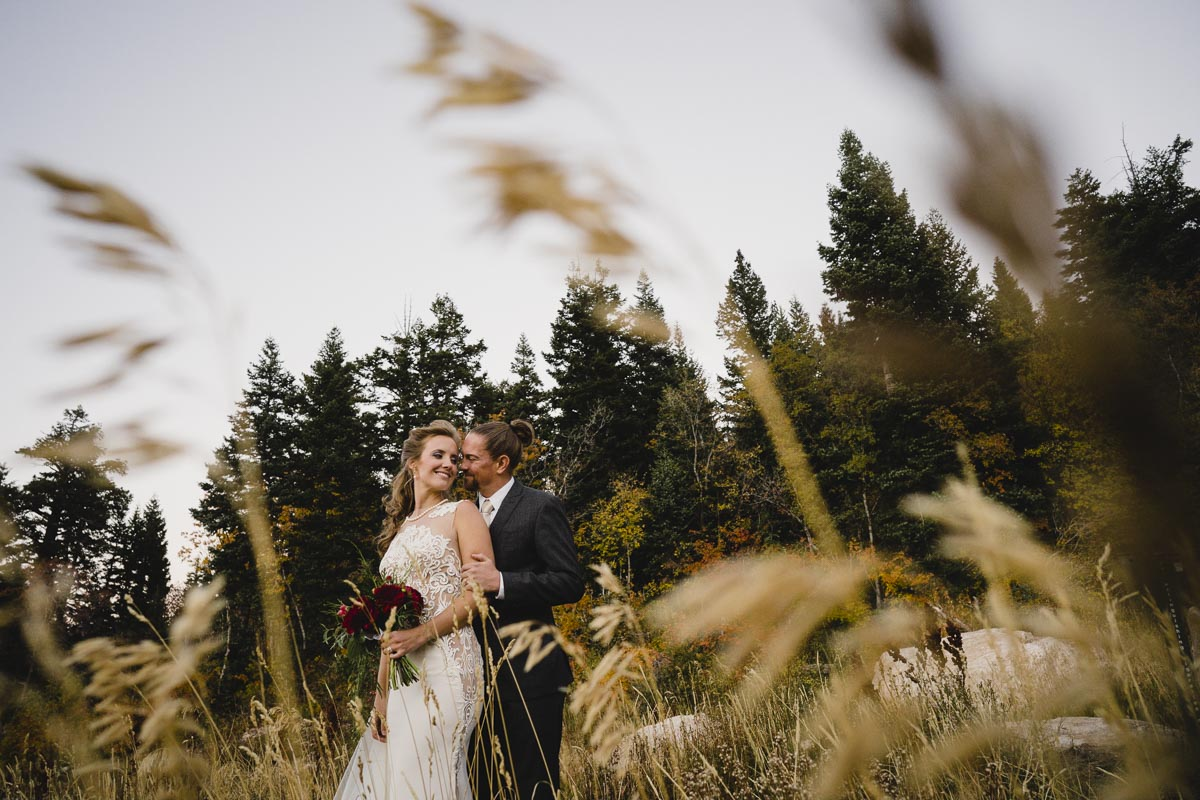 Snowbasin wedding photo