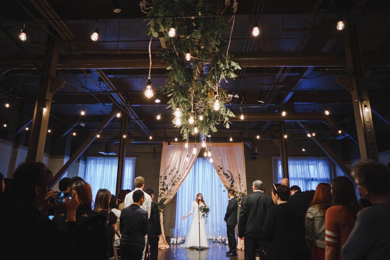 Pierpont Place wedding bride giving speech photo