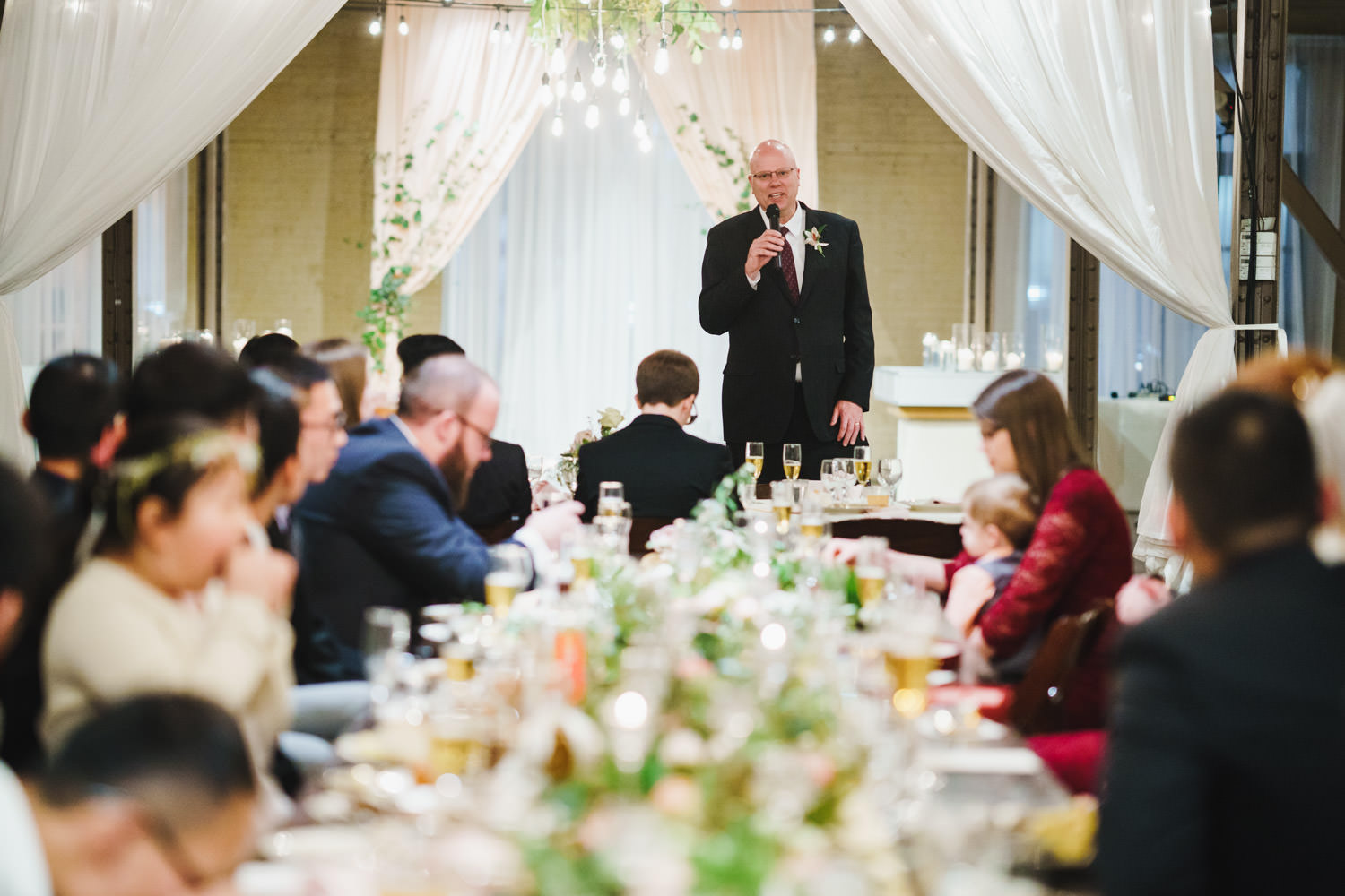 Pierpont Place wedding wedding toast photo