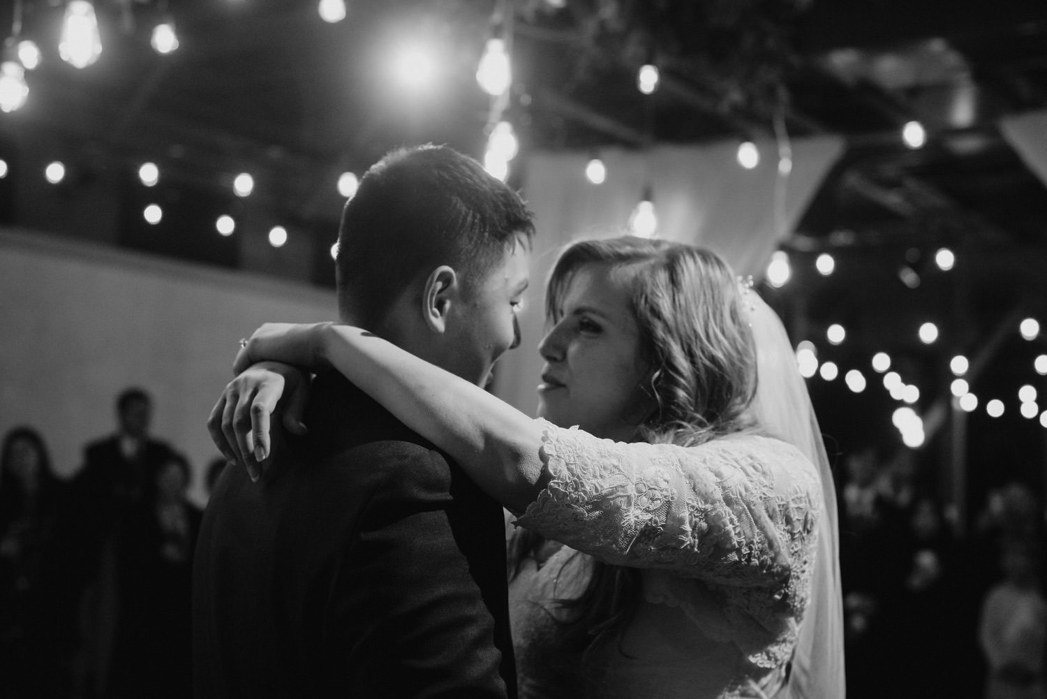 Pierpont Place wedding bride and groom dancing photo