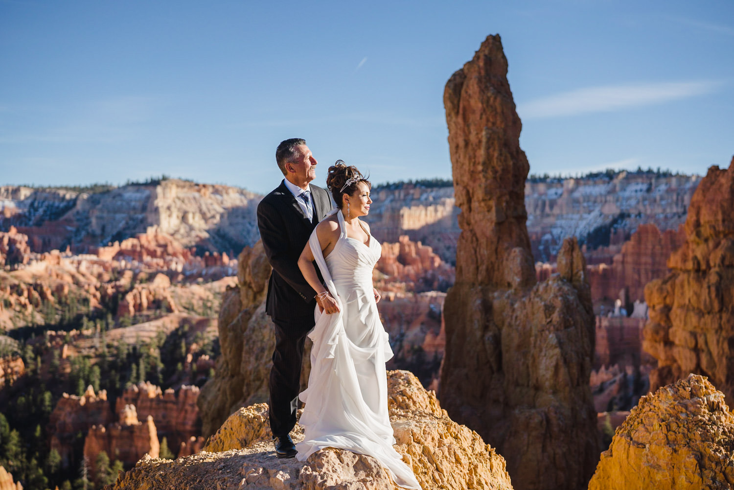 Bryce Canyon elopement portrait at Sunset Point photo