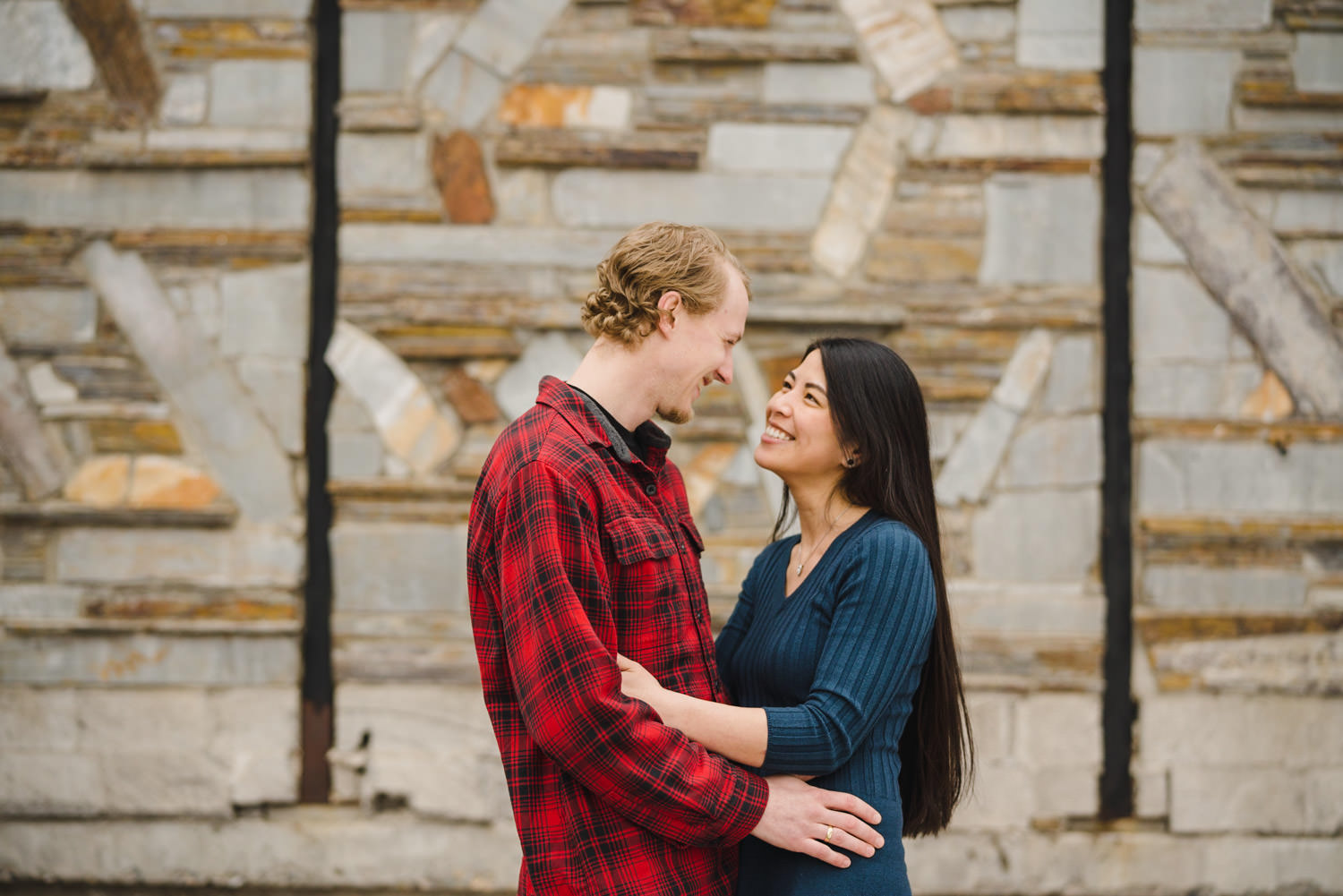 Engagement session at Solitude intimate look between couple photo