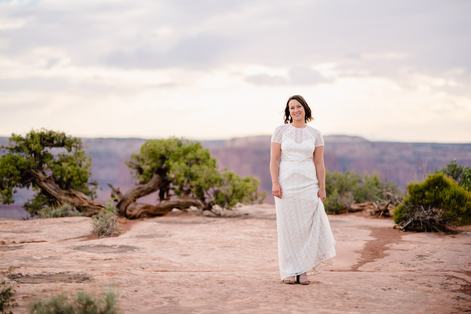 Dead Horse Point elopement bridal portrait photo