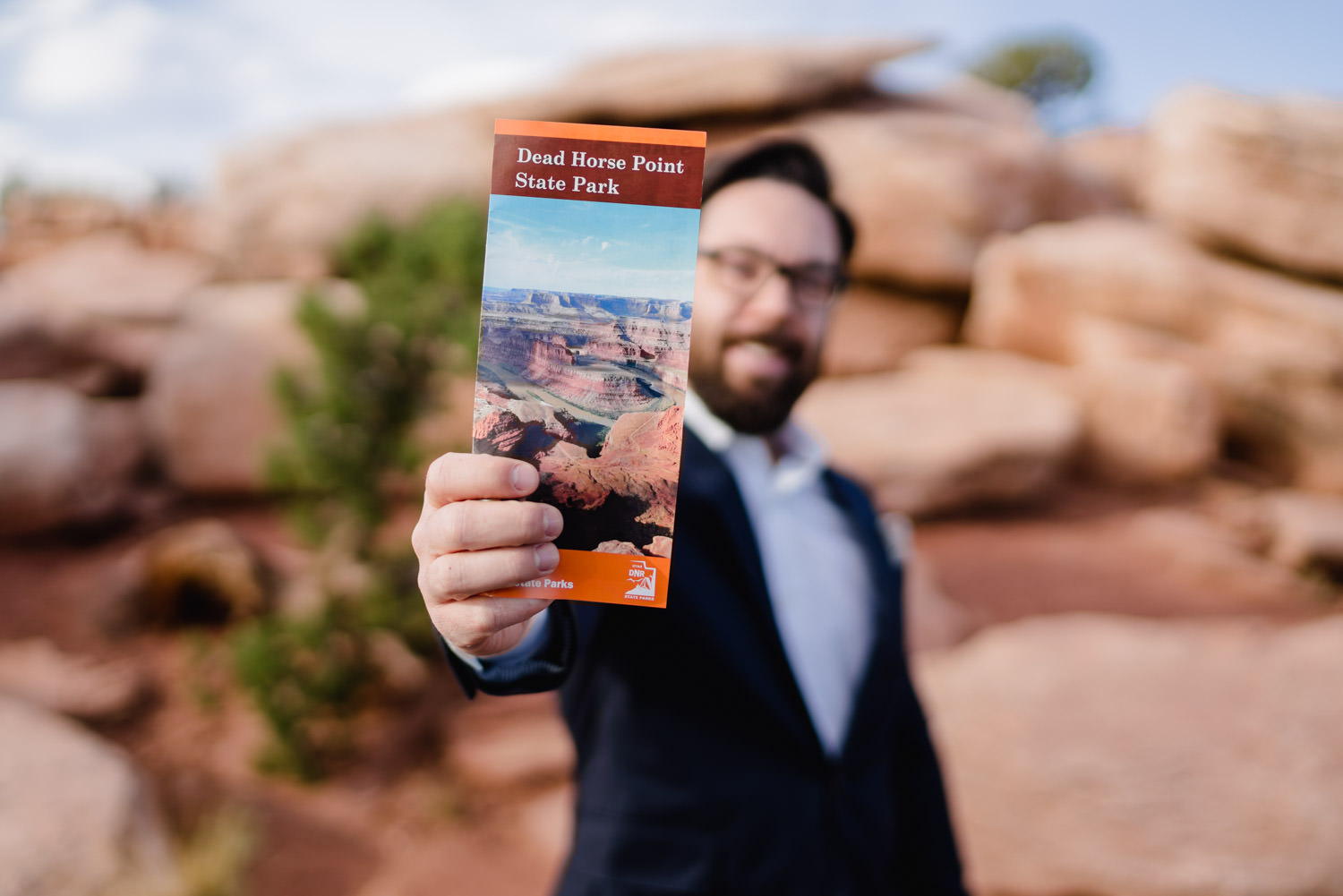 Dead Horse Point elopement state park brochure photo