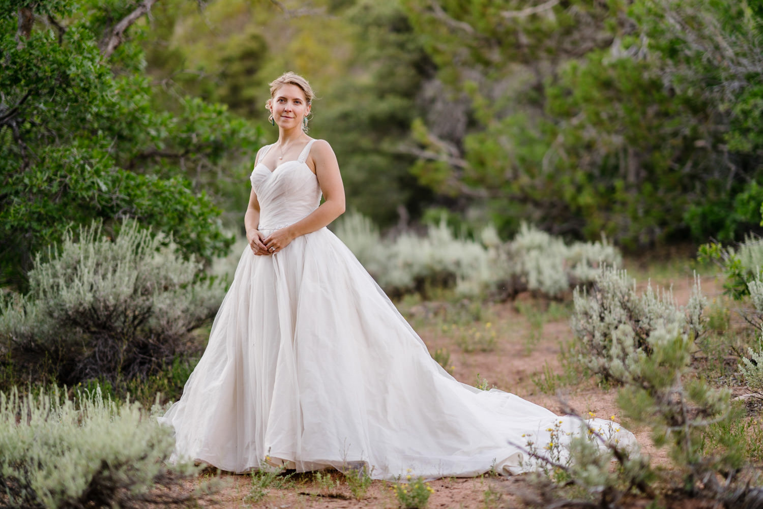Zion National Park Wedding bride smiling