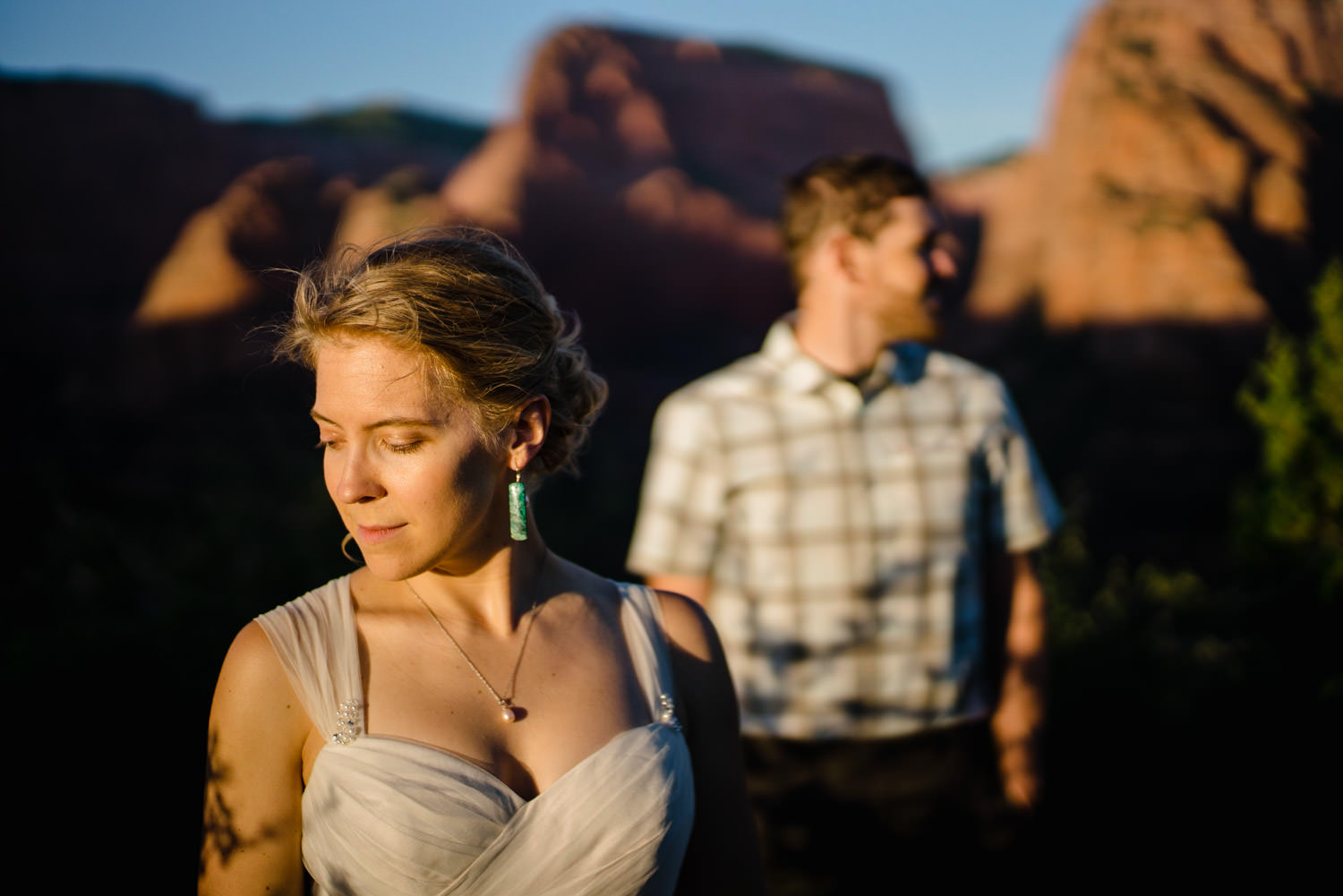 Kolob Canyons Wedding bride and groom photo