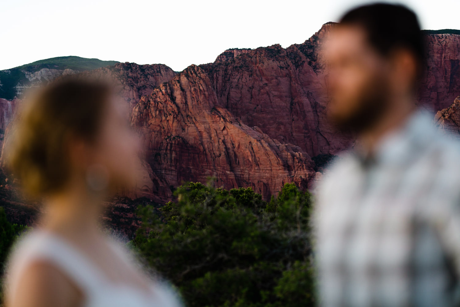 Kolob Canyons Wedding adventurous bride and groom photo