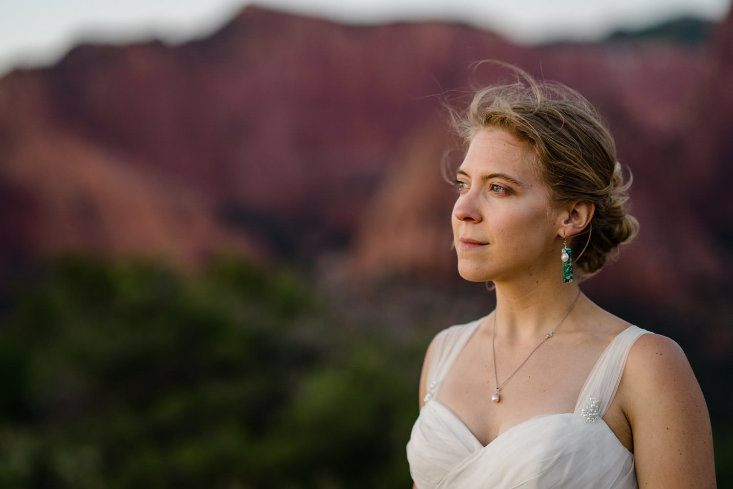 Kolob Canyons Wedding in Zion National Park bride photo