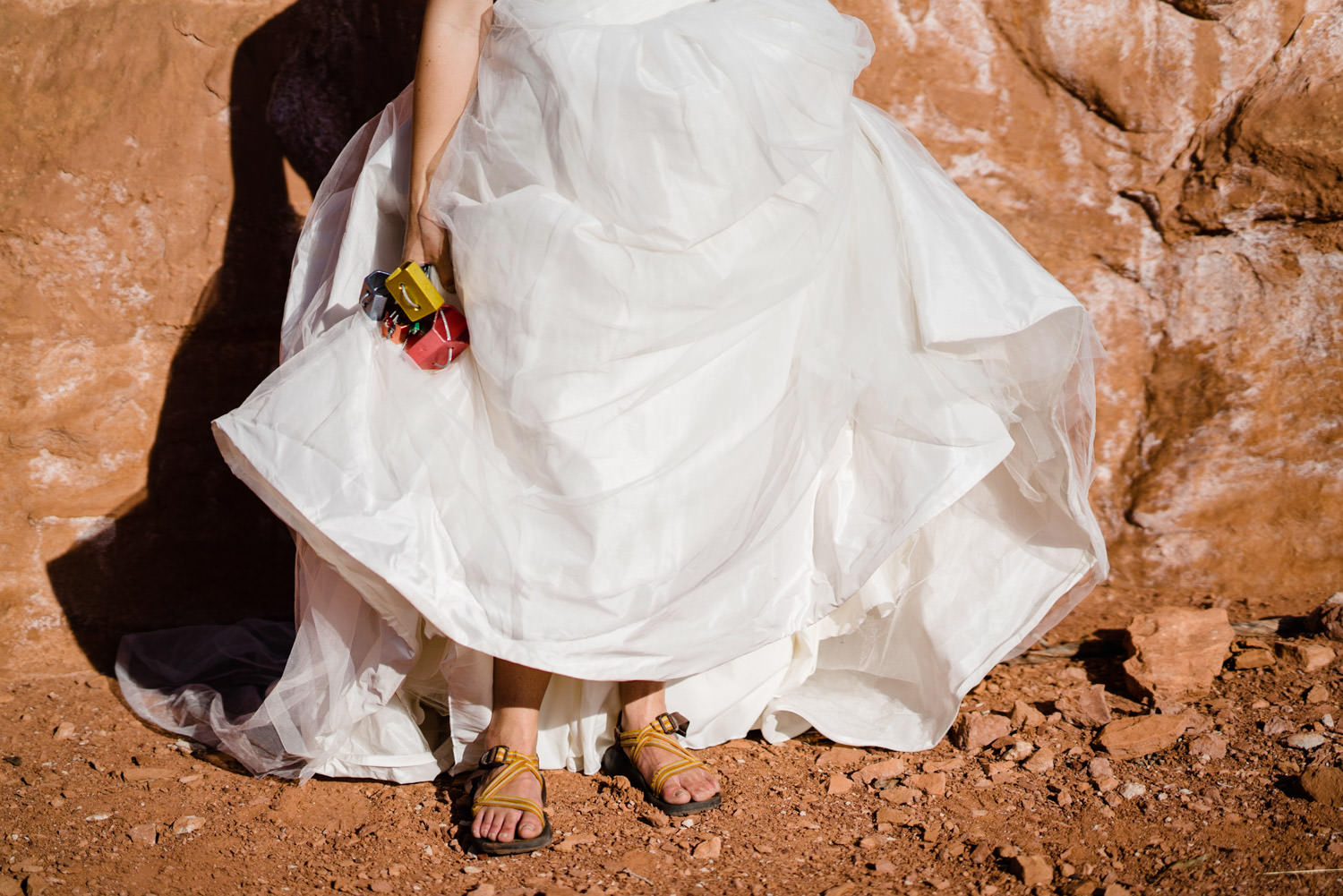 Kolob Canyons Wedding in Zion National Park bridal details photo
