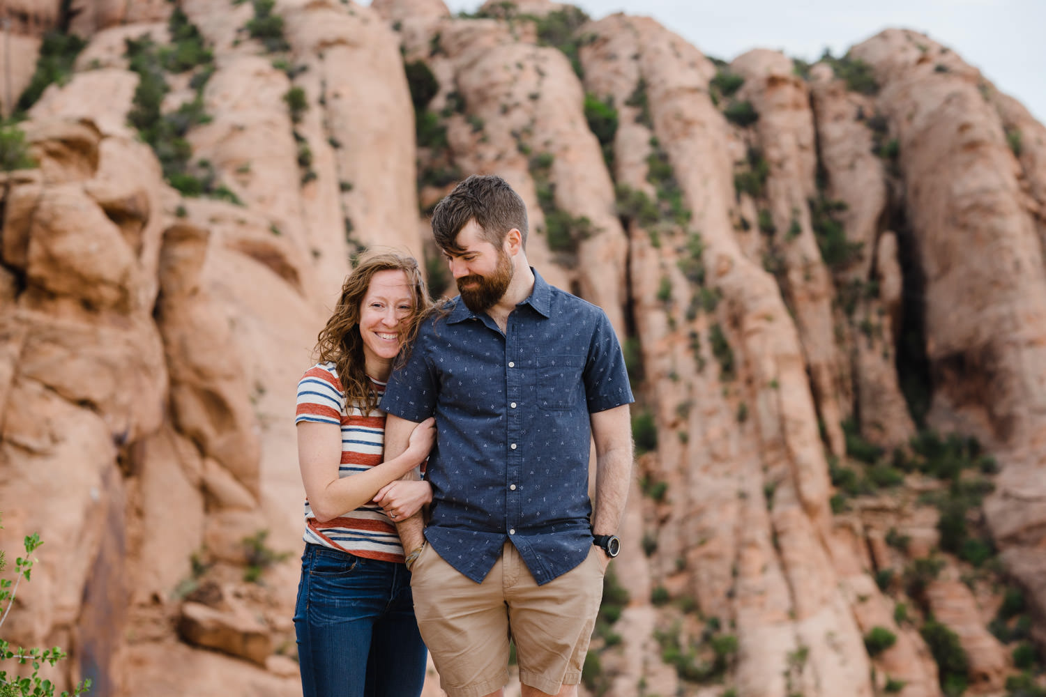engagement session in Moab portrait on Slick Rock Trail photo