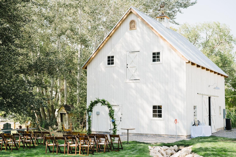 Spring Farm wedding white barn ceremony site photo