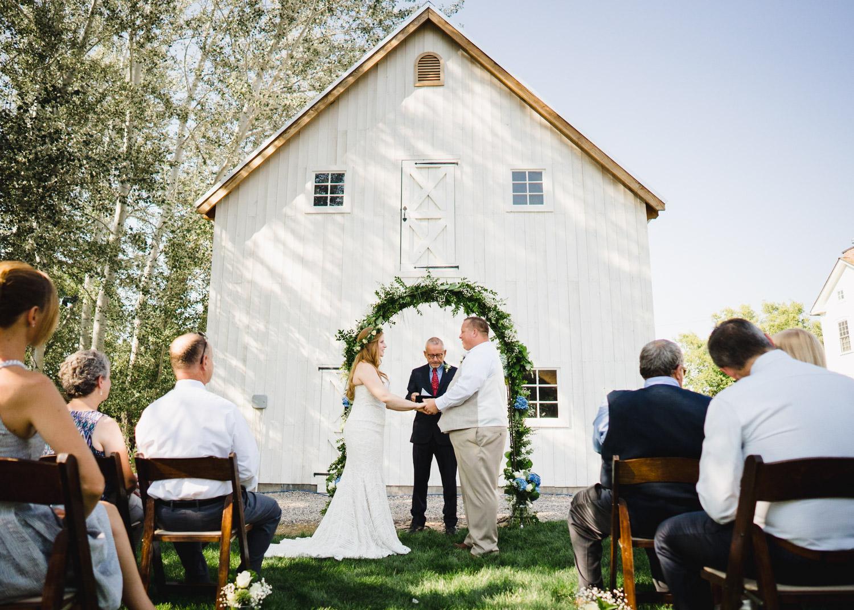 Spring Farm wedding photo